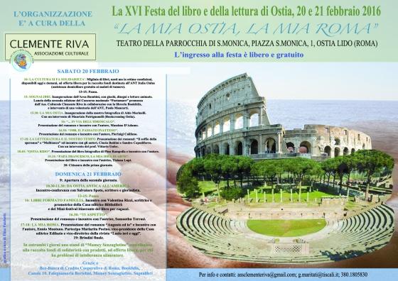 Locandina 16.ma Festa del libro di Ostia